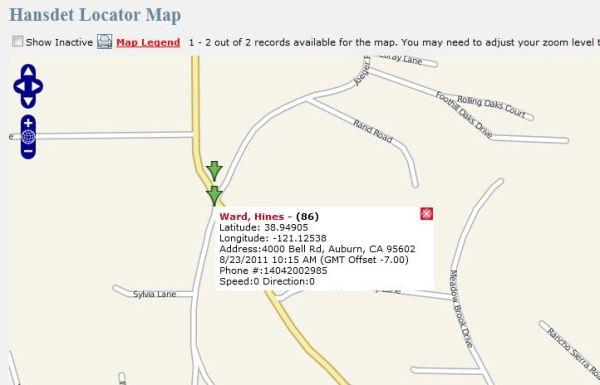 Handset Locator Map
